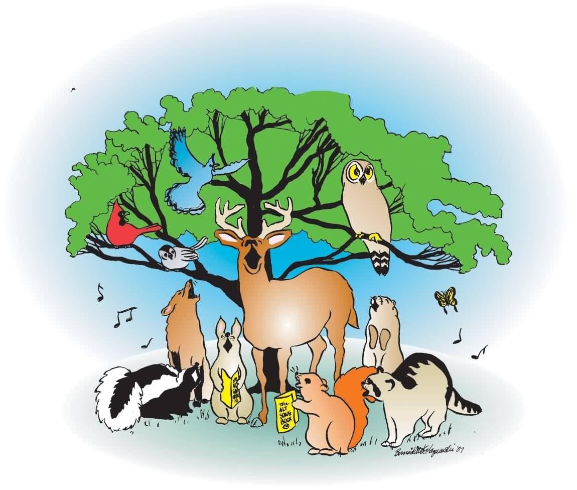 Animal population clipart.