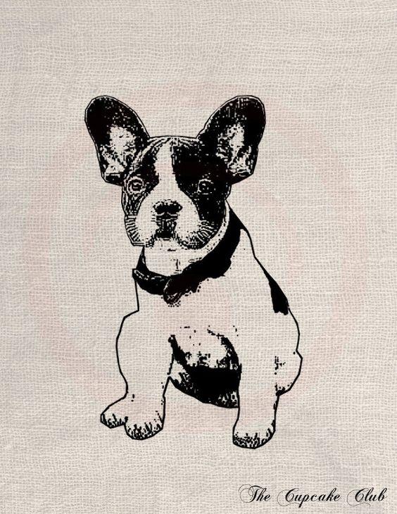 Custom Pet Dog Portrait Clip Art Designs Transfer Digital File.