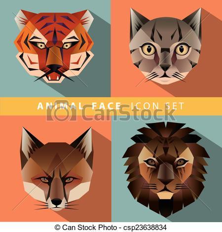 Animal portrait Clipart Vector Graphics. 11,273 Animal portrait.