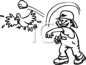 Similiar Black And White Clip Art Throwing Rocks Keywords.