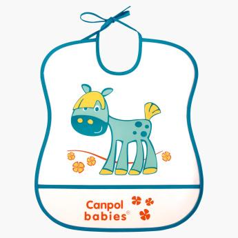 Canpol Babies Happy Animal Horse Printed Bib.