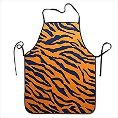 Amazon.com: FUNINDIY Tiger Print Animal Print Cool Bib Apron.