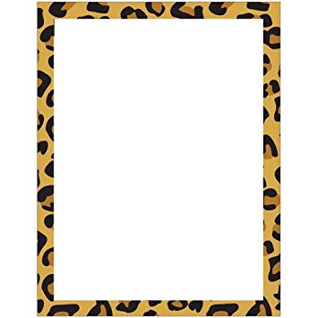 Modern Leopard Animal Print Stationery Letter Paper.