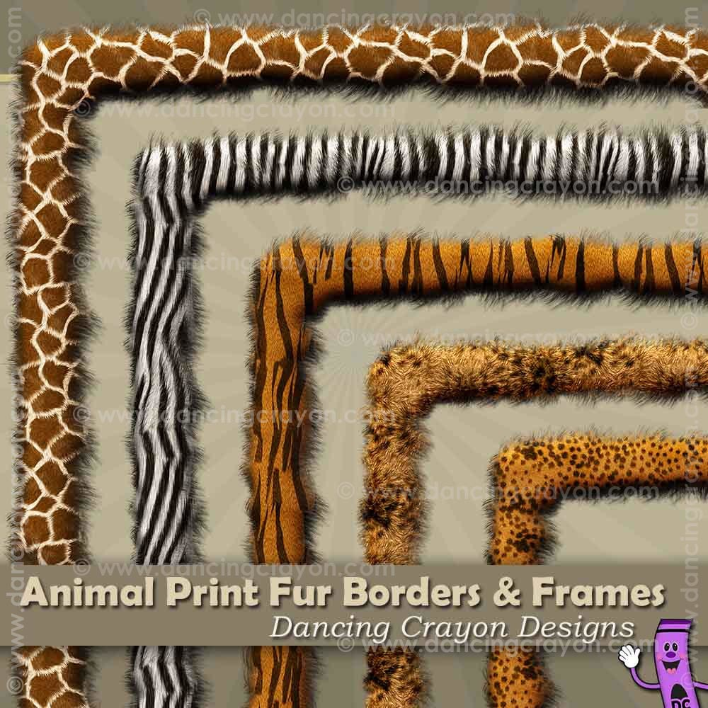 Borders: Animal Print Fur.
