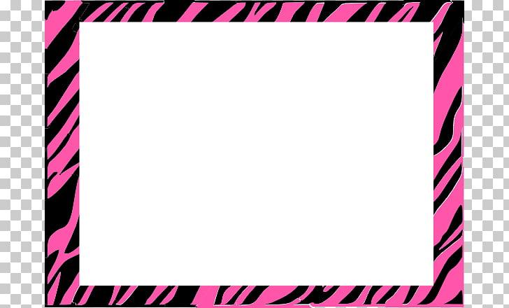 Zebra Animal print Pink Stripe , Free Zebra Print Border PNG.