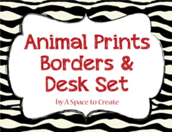 Clip Art: Animal Print Bord by A Space to Create Art.