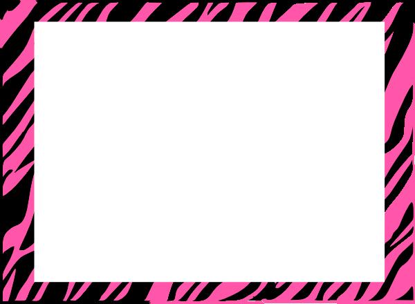 Free Zebra Print Border.