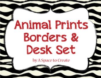 Animal Print Borders & Frames, Clip Art for Commercial Use.