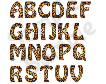 Animal Print Letters Clip Art.