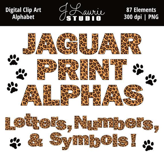 animal print letters clip art #16
