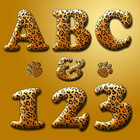 Digital Alphabet Leopard Print, Animal Print digital.