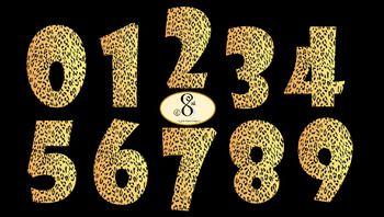 Leopard Print Number Clip Art.