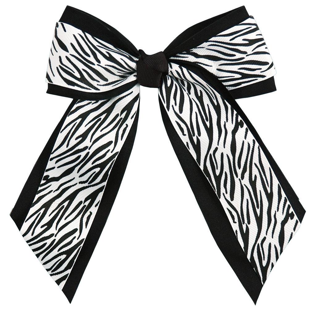 Animal Print Hair Bow.