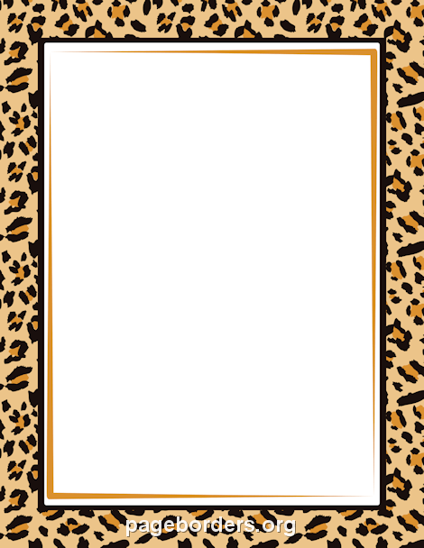 Leopard Print Border: Clip Art, Page Border, and Vector Graphics.