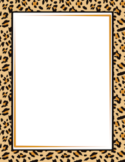 Leopard Print Border.