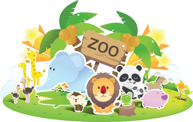 Free clipart zoo animals.