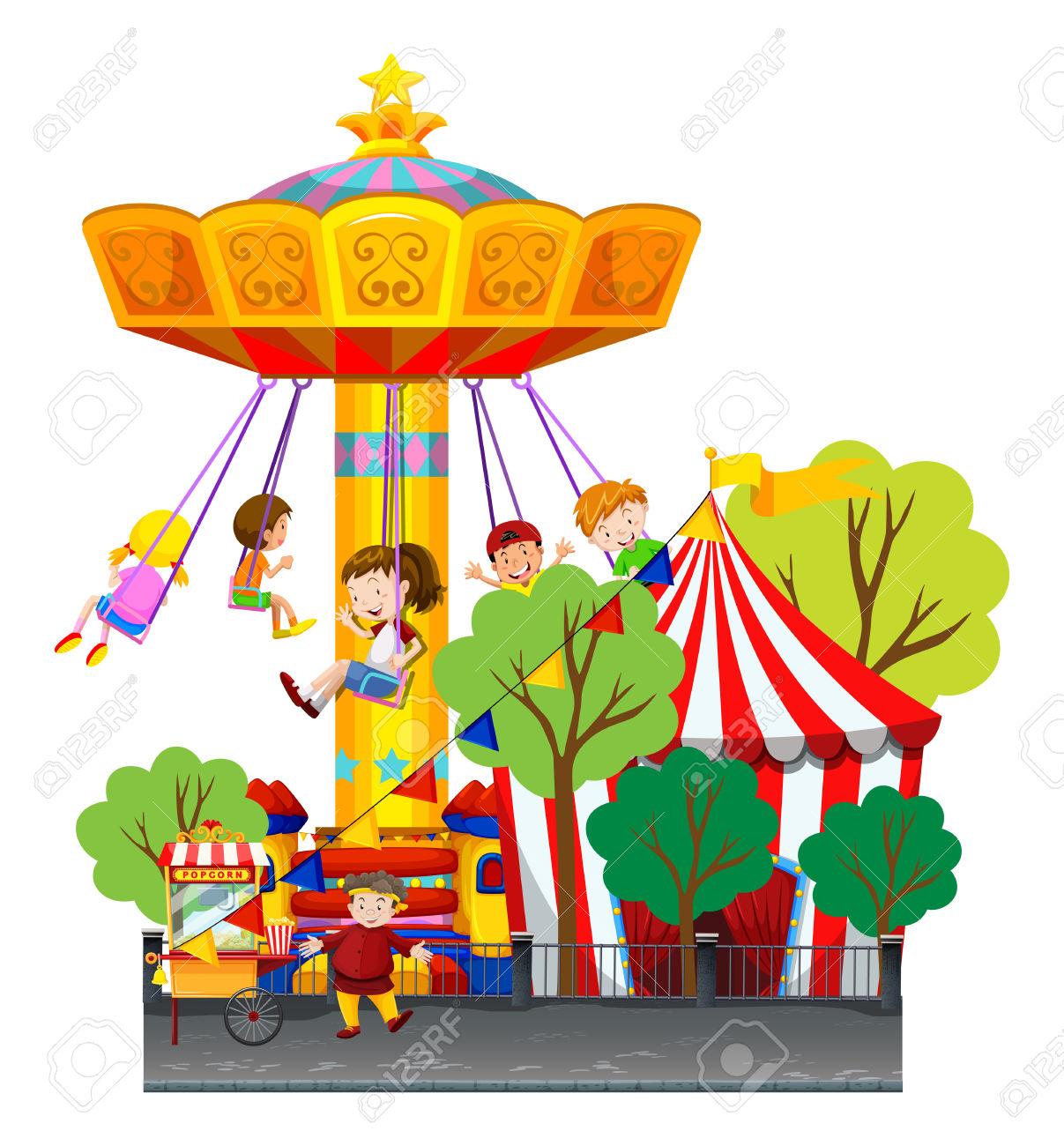Showing post & media for Cartoon amusement park rides clip art.