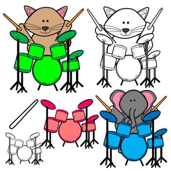 Rock Band Animal Clipart!.