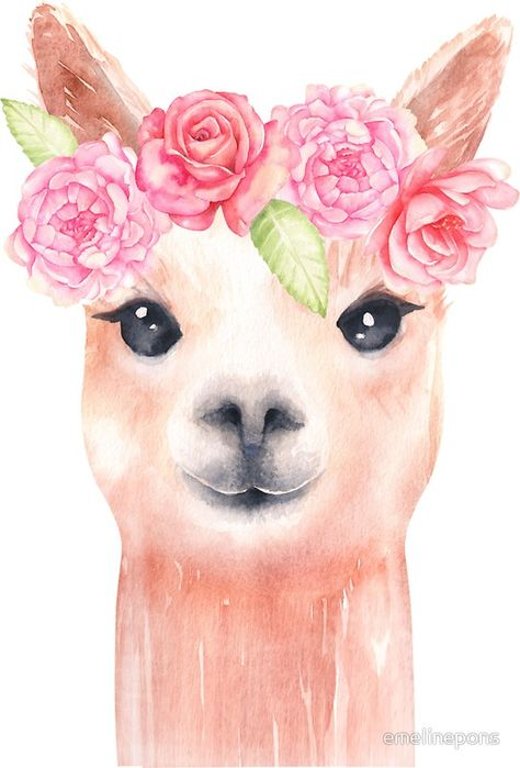Llama\' Sticker by emelinepons in 2019.
