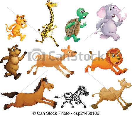 Animals That Run Clipart.