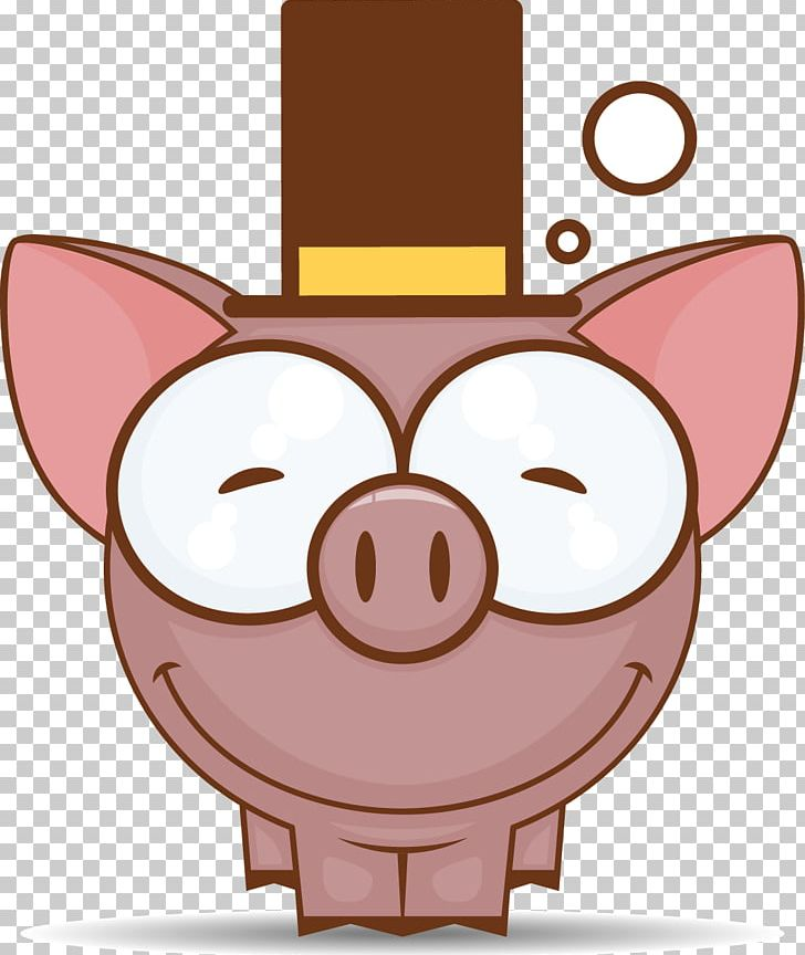 Domestic Pig Cartoon Sticker PNG, Clipart, Animal, Animals.