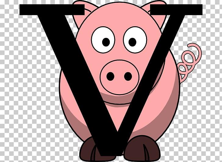 Look At! Farm Animals Pen , fat pig PNG clipart.