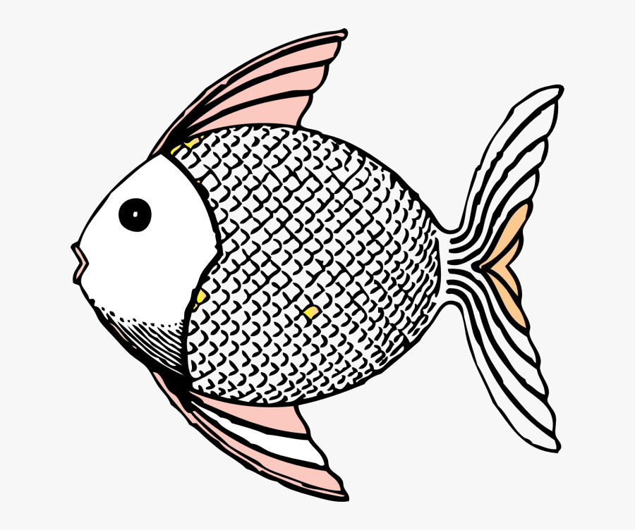 Brim Fish Black And White Png.