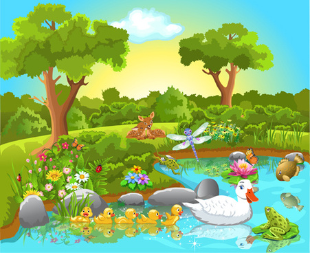 Animals In Nature Clipart.