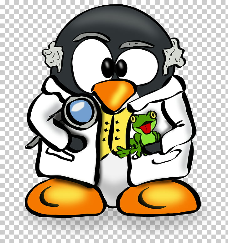 Penguin Tux Linux user group Scientist , Penguin PNG clipart.