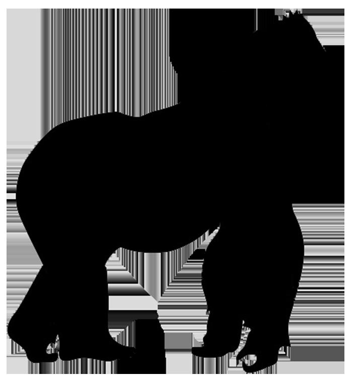 gorilla silhouette ….