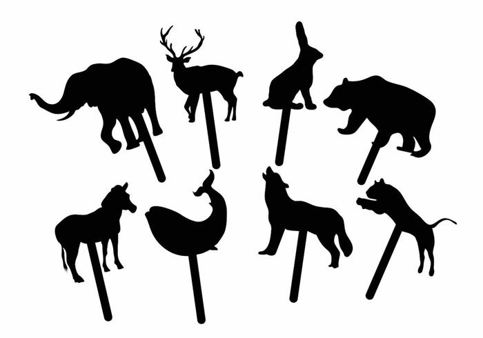 Animal Shadow Puppet Set.