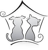 Animal Shelter Building Outside Clipart Black And White.