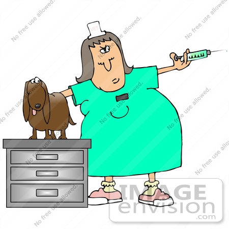Vet with dog clipart.