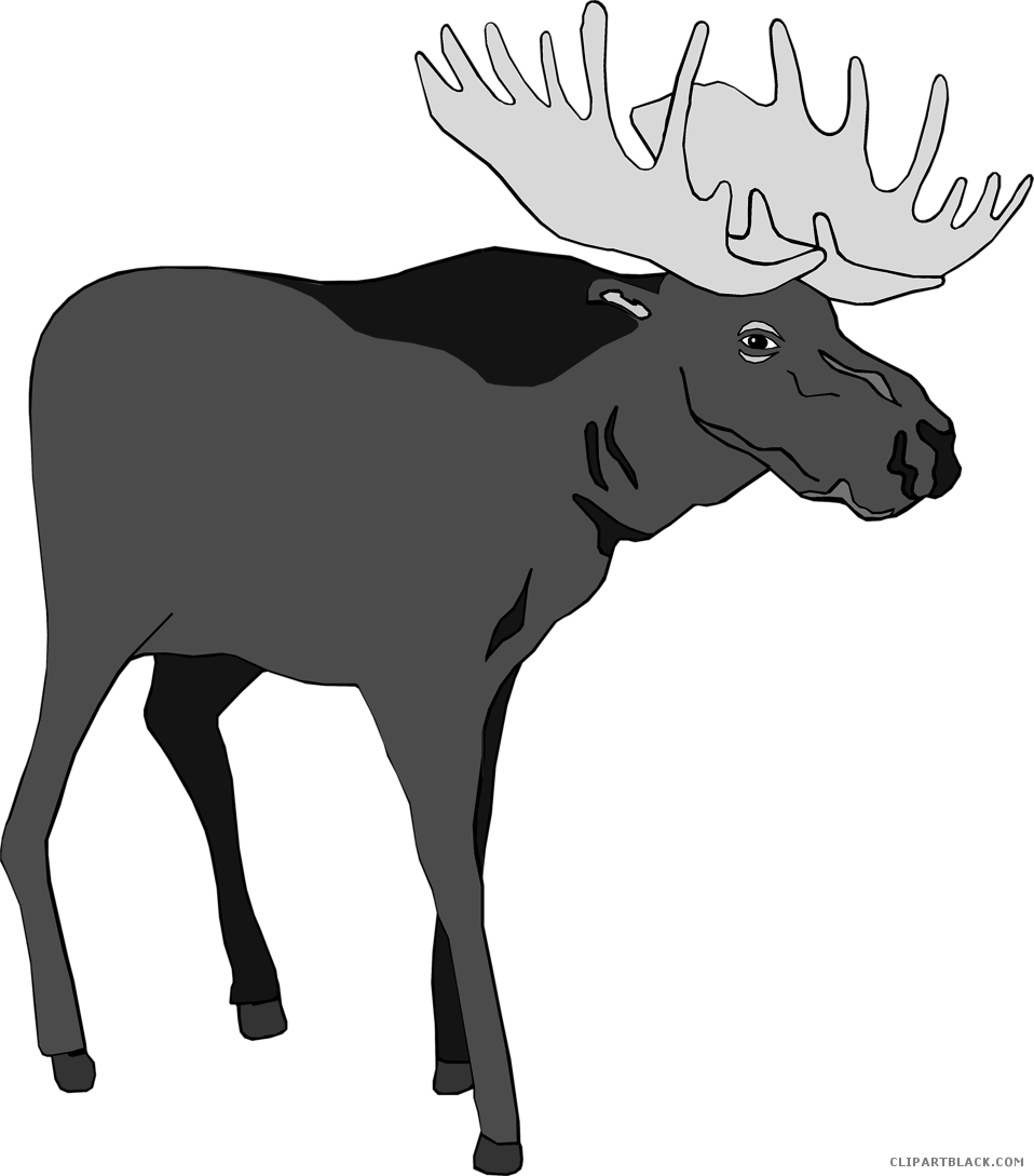 Bullwinkle J. Moose Borders Clip Art Animal Silhouettes.