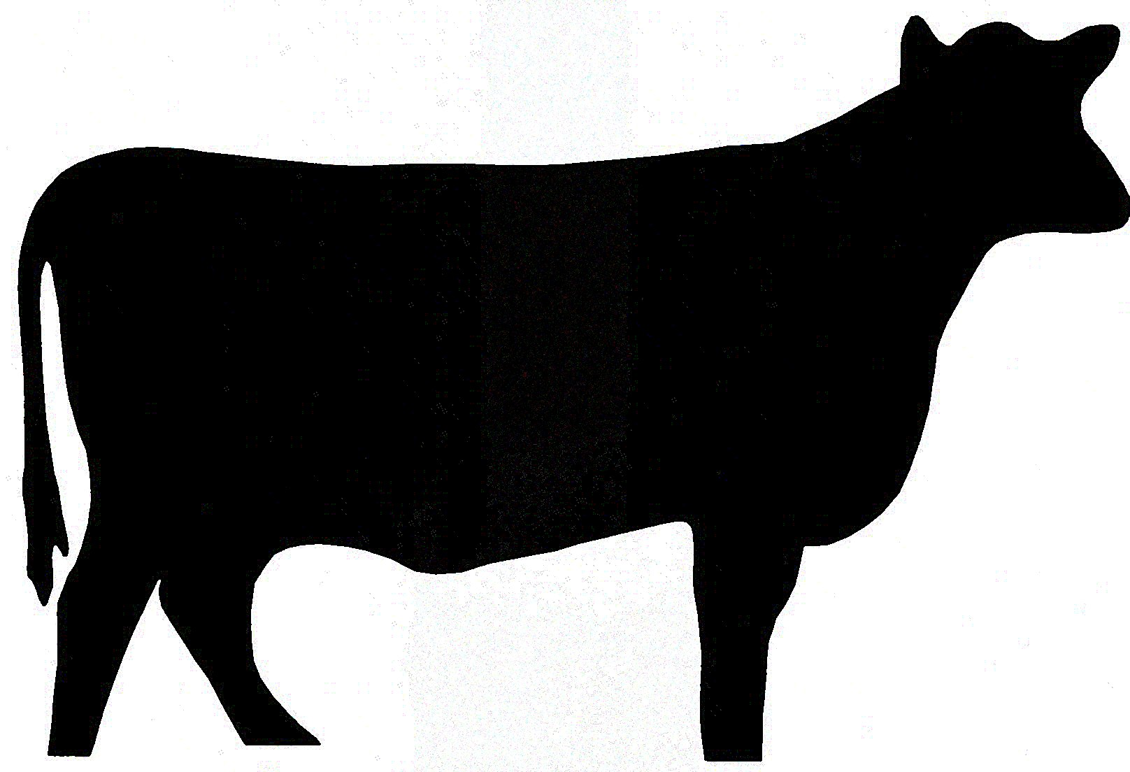 Free Cow Silhouette Clip Art.