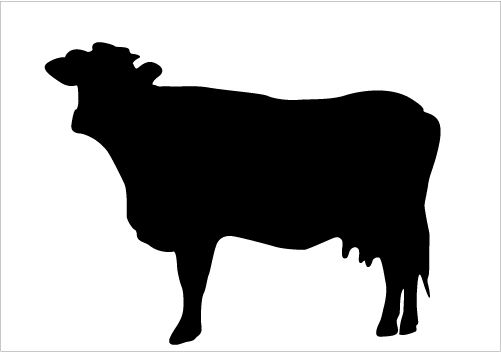 Best Cow Silhouettes for Farm Animal Design Silhouette.