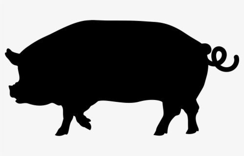 Free Pig Silhouette Clip Art with No Background.