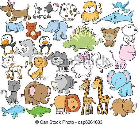 Animal Drawings Clipart.
