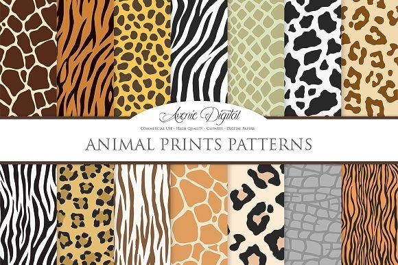 Ad:Animal Print Vector Patterns.