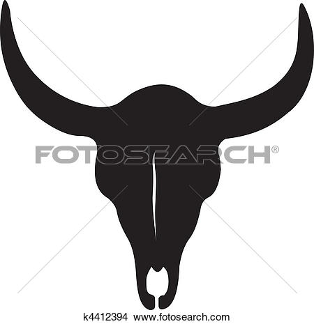 Clip Art of animal skull k5328618.