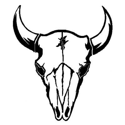 Bull skull clip art.