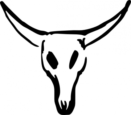 Animal skull clipart.
