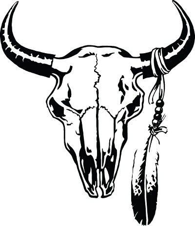 Cattle Skull Decal.