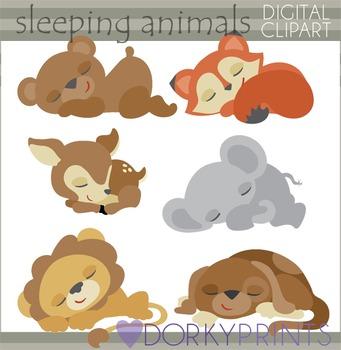 Sleeping Animals Clipart.