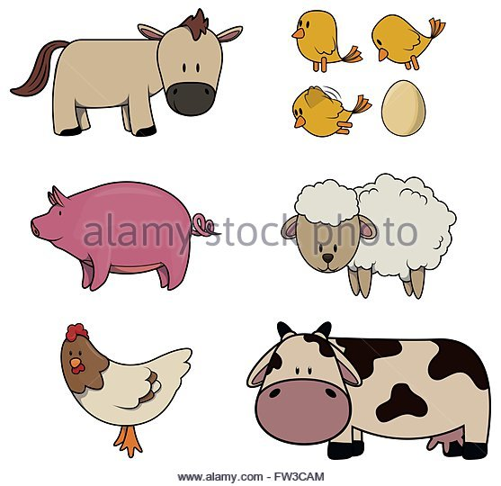 Farm Animal Farmer Cut Out Stock Images & Pictures.