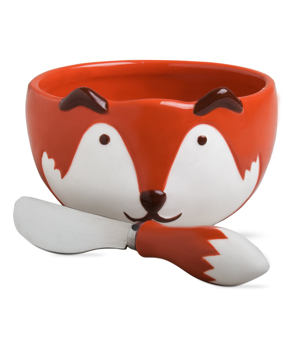 tag Cinnamon & Orange Fox Bowl & Spreader.