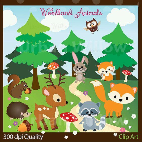 VECTOR WOODLAND ANIMALS.