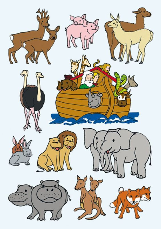 Clipart animal pairs noah and the ark.