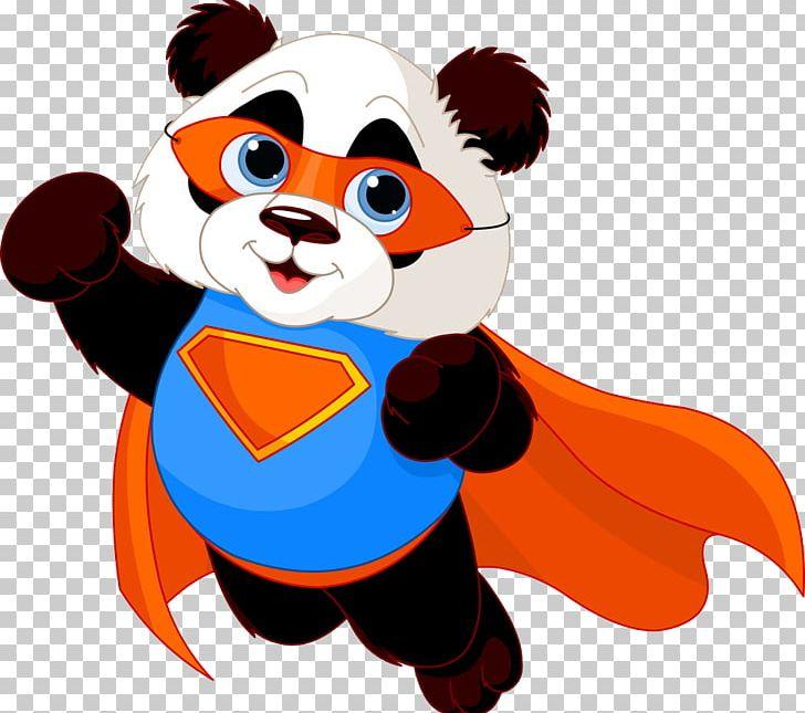 Giant Panda Superhero Illustration PNG, Clipart, Animals.