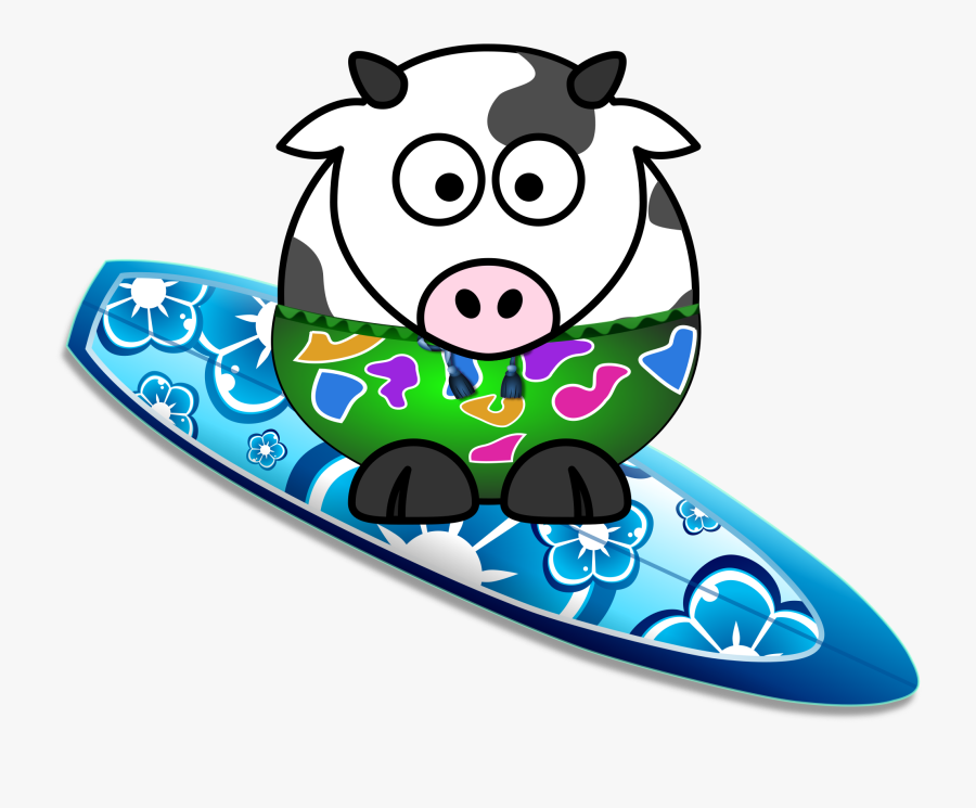 Cow Surfer , Free Transparent Clipart.